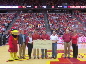 Latham Hi-Tech Seeds is proud to support the Cyclone Charity Stripe, which raises money for Coaches vs. Cancer with every free throw the ISU Men's Basketball team makes during the 2013-14 season