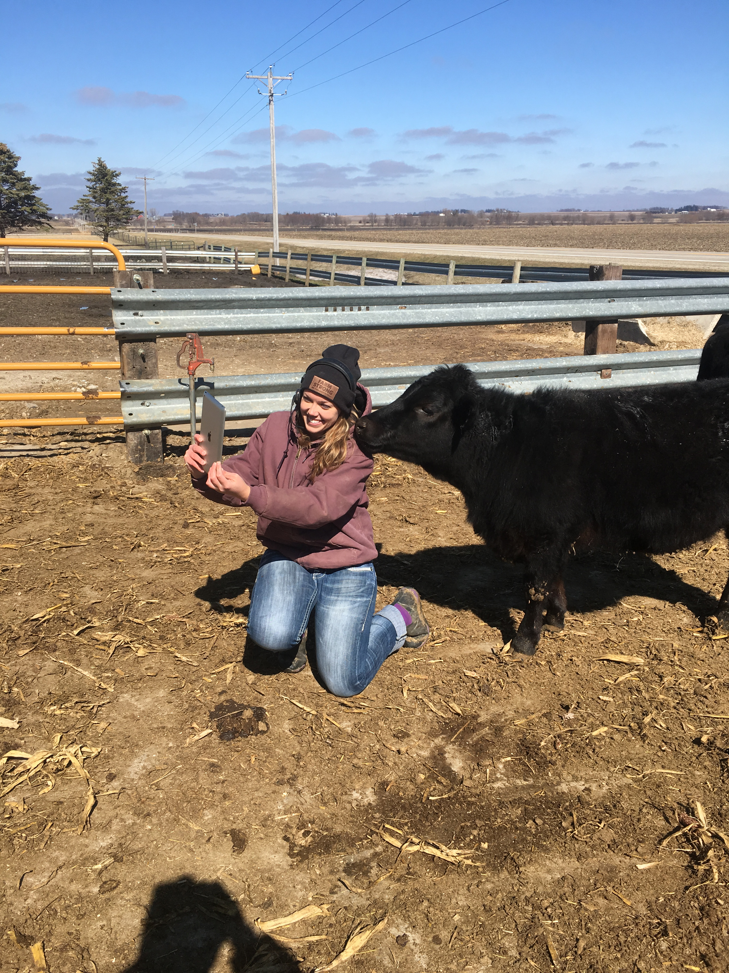 Laura and Lena Facetime Farmer Penpal with Central Springs 3rd Grade
