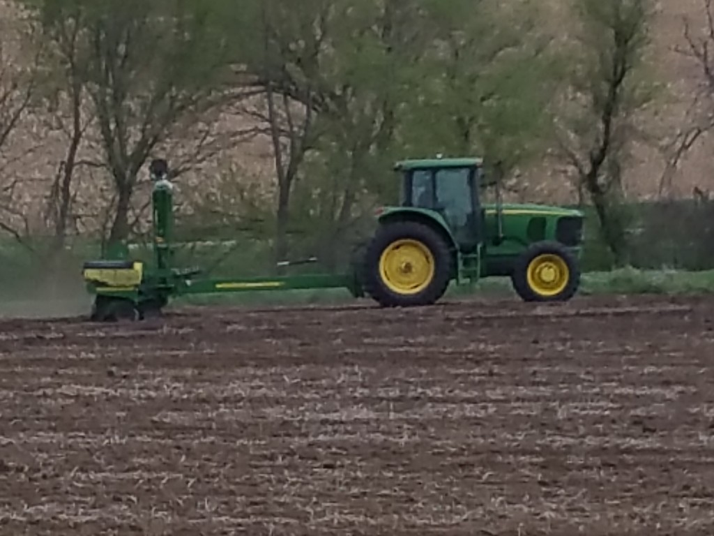 This plot cooperator finished corn #plant17 when this Latham plot went in the ground.