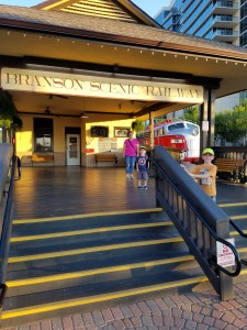 Our hotel was near the Branson Scenic Railway.