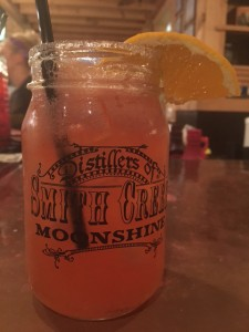 Moonshine Margaritas were a perfect cap to the day during our stay in Branson