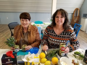 Darcy Maulsby and her mom enjoy cooking classes like the Butter & Brine workshop led by Mary Lovstad at Enchanted Acres in Sheffield, Iowa.