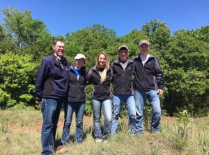 Range judging team with Mr. Fred Zenk, Webster FFA advisor