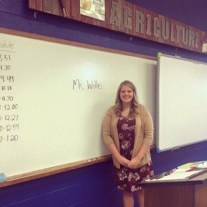 Sarah Wille on her first day at MFL MarMac School.