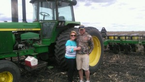 Planting Season at Plathe Farms. Bob's sister Kathy and son Bobby help out on the farm.