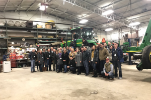 Leadership Iowa visited Latham Customer April Hemmes' farm to learn about her operation
