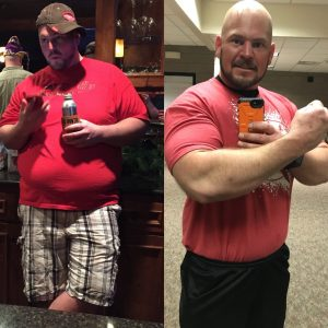 Thanksgiving Day 2015 at 330 pounds and November 2017 at 270 pounds