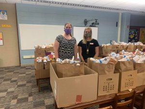 ISU Extension staff since April have been delivering food boxes to families in need throughout the Mason City Community School District (MC CSD).