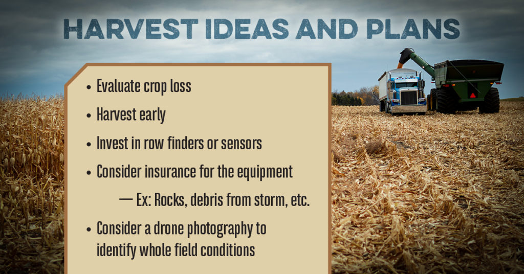 Harvest ideas and plans
