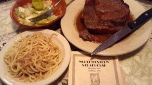 Northwestern Steakhouse meal